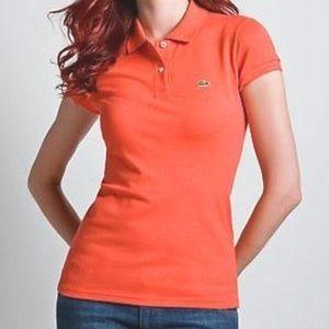 LaCoste 12 Polo Shirt Top Bright Orange 44